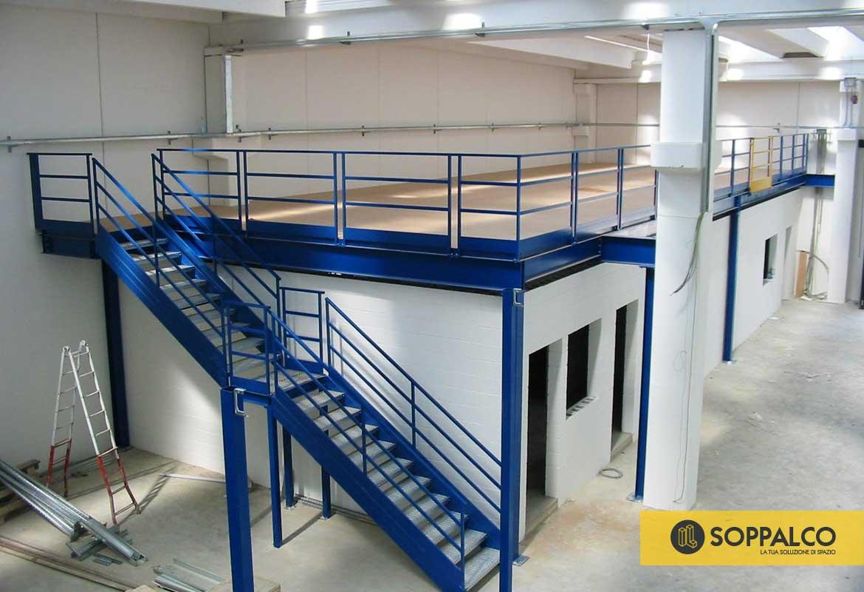 Soppalco Autoportante In Acciaio soppalchi industriali uso ufficio